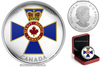 2017 - $20 - 1 oz argent - Distinctions honorifiques canadiennes  45e anni. l'Ordre mérite militaire