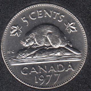 1977 - B.Unc - Low '7' - Canada 5 Cents