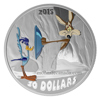 2015 - $30 - 2 oz. Fine Silver Coloured Coin – Looney Tunes™ Classic Scenes: Fast and Furry-ous