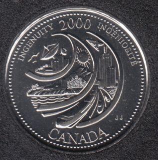 2000 - #2 NBU - Ingenuity - Canada 25 Cents
