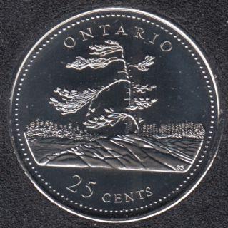 1992 - #8 NBU - Ontario - Canada 25 Cents