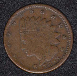 1863 - Not One Cent - Civil War Token