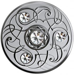 2020 - $5 - Pierre de naissance d'avril – Pièce en argent pur rehaussée de cristaux SwarovskiMD