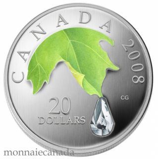 2008 - $20 Fine silver Crystal Raindrop - TAX Exempt