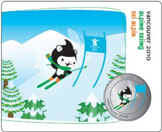 2010 - 50 Cents - Vancouver – Alpine Skiing Mascot Collector Card