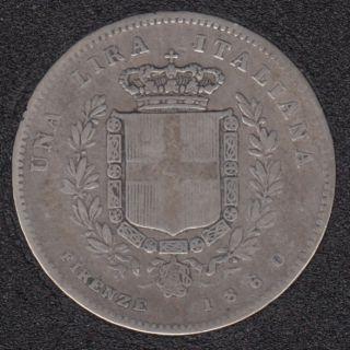 1860 - 1 Lira - Gori//Firence - Emilia (Kingdom) - Italie