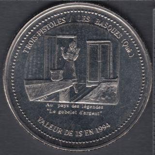 Trois-Pistoles / Les Basques - 1994 - Le Gobelet d'argent - $1 Trade Dollar