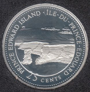 1992 - #7 Proof - Silver - Prince Edward Island - Canada 25 Cents