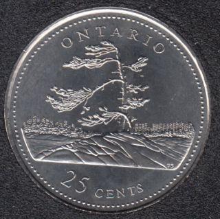 1992 - #8 B.Unc - Ontario - Canada 25 Cents