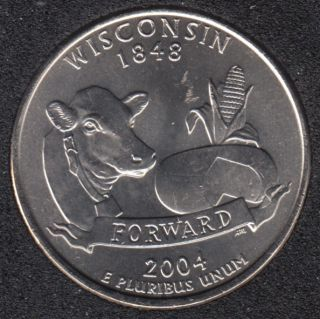 2004 P - Wisconsin - 25 Cents