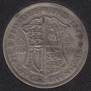 1936 - Half Crown - Grande Bretagne
