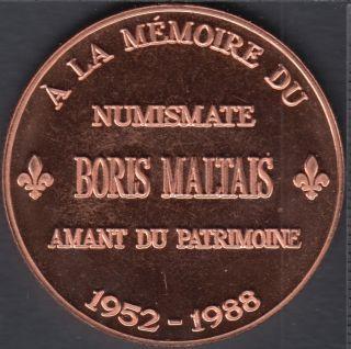 Quebec - Epicerie J.A. Moisan - 1988 - 1952 - A La Mémoire du Numismate Boris Maltais - Valeur 1 Écu au Magasin