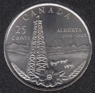 2005 P - B.Unc - Alberta - Canada 25 Cents