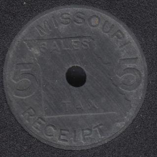 Sales Tax - Missouri 5 Receipt - Token