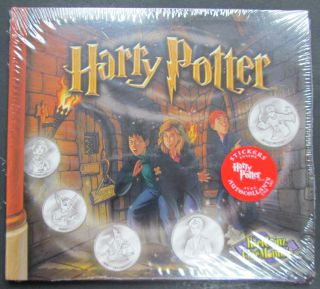 2002 Reelcoinz Collectibles - 5 Medallions & Stickers - Harry Potter
