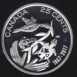 2017 - Proof - Argent Fin - Col. Pour L'avenir de Notre Environnement - Canada 25 Cents