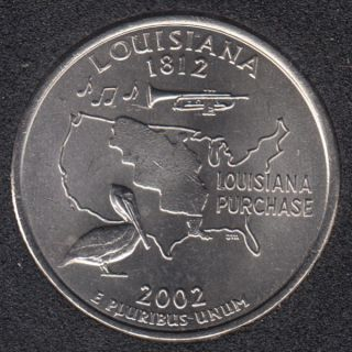 2002 D - B.Unc - Louisiana - 25 Cents