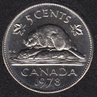 1978 - B.Unc - Canada 5 Cents