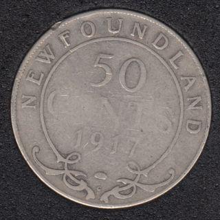 Newfoundland - 1917 C - 50 Cents