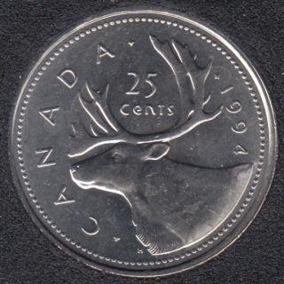 1994 - B.Unc - Canada 25 Cents