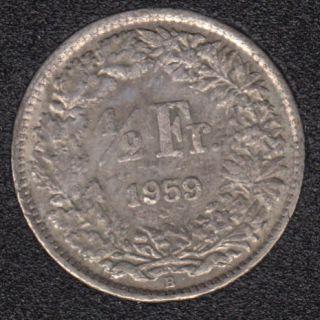 1961 B - 1/2 Franc - Suisse
