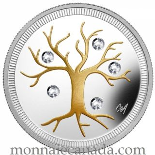 2014 - $3 - Fine Silver Coin - Jewel of Life