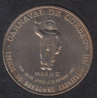 1981 Carnival of Quebec - Trade Dollar