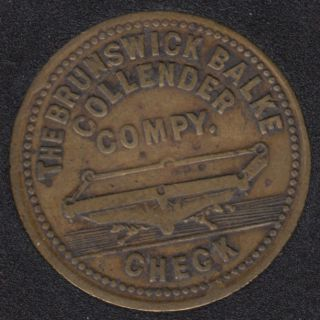 The Brunswick Collender Compy. Check -Good For 5¢ in Trade - J.W. Mansfield