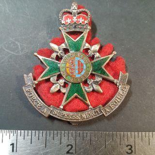 #1-9 Canada Cap Badge Voltigeurs De Quebec Officers