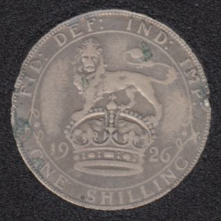 1926 - Shilling - Rim NIck - Great Britain