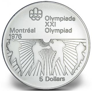 1976 - #22 - $5 - Pièce en argent sterling, Jeux olympiques d'été à Montréal, L'escrime