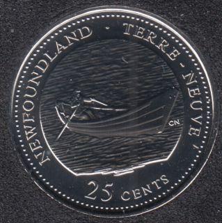 1992 - #3 NBU - Terre Neuve - Canada 25 Cents