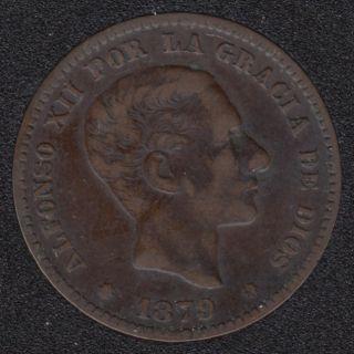 1879 - 5 Centimos - Espagne