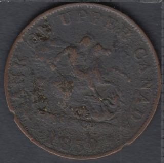 P.C. 1850 Bank of Upper Canada Half Penny PC-5A