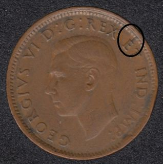 1945 - Break E to Rim - Canada Cent