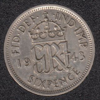 1943 - 6 Pence - Great Britain