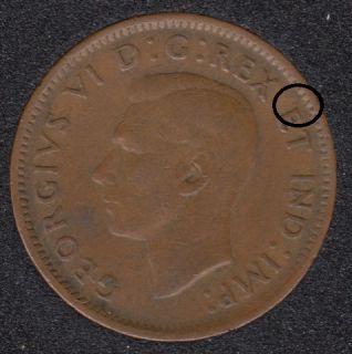 1942 - Break E to Rim - Canada Cent