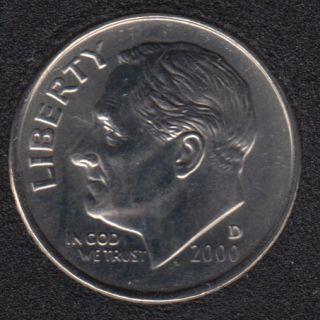 2000 D - Roosevelt - B.Unc - 10 Cents