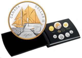2021 - Ensemble épreuve numismatique en argent pur – 100e anniversaire du Bluenose