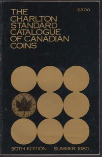 1980 - Charlton - Standard Catalogue of Canadian Coins Summer - Usagé