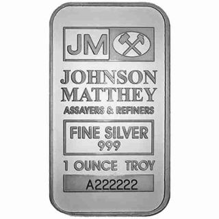 1 oz Johnson Matthey Silver Wafer Bar - TRUST - with serial number - No Tax