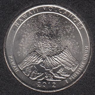2012 P - Hawaii Volcanoes - 25 Cents