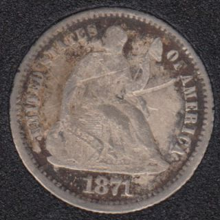 1871 - Liberty Seated - Half Dime