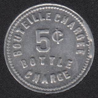 Bouteille Chargée 5¢ Harbour Restaurant J.A. Bousquet Montreal