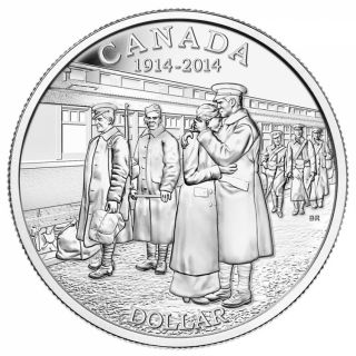 2014 - Brilliant Fine Silver Dollar - 100th Anniversary of the Declaration of the First World War