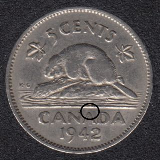 1942 - Hanging A - Canada 5 Cents