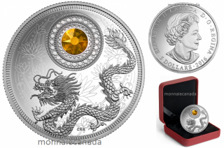 2016 - $5 - Fine Silver Coin made with Swarovski® Crystal - Birthstone - November