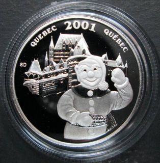 2001 Canada 50 Cents Sterling Silver - Bonhomme Quebec Winter Festival