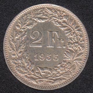 1955 B - 2 Francs - AU - Suisse