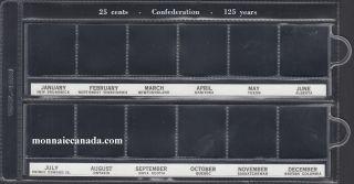 Pochette de Vinyle Uni-Safe 25 Cents Commémoratif (12) - Confédération
